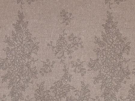 Льняная ткань: 31П. Серые кружева на сером фоне, лён.