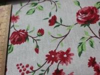 Хлопковая ткань: 210Б. Крупные розы, 1,5м