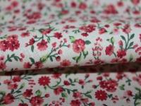 Хлопковая ткань: 200Пп. Мелкий розовый цветок. Поплин.