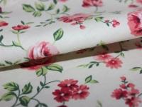 Хлопковая ткань: 201Пп. Крупный розовый цветок. Поплин.