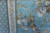 Хлопковая ткань: 245. Белые лилии на голубом фоне