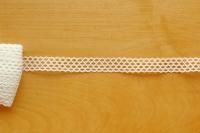 Льняное кружево: 15К. Молочное узкое кружево, сетчатое