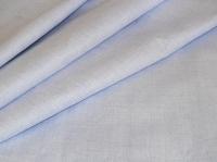 Натуральные полульняные ткани: 9П. Небесно-голубой, крепированный полулен.