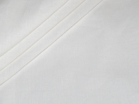 Натуральные полульняные ткани: 75П. Белый постельный, полулен.