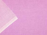 Натуральные полульняные ткани: 89П. Розовый, полулен.