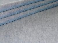 Натуральные полульняные ткани: 72П. Голубо-бирюзовый постельный, полулён.