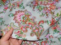 Хлопковая ткань: 228.2.Б.Огуречные узоры на серой бязи.